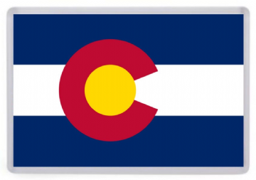 Colorado State Flag Fridge Magnet. USA